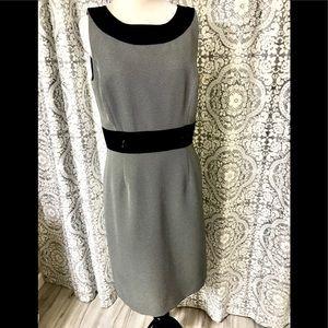 NWT Tahari S Levine Black & White Seath Dress